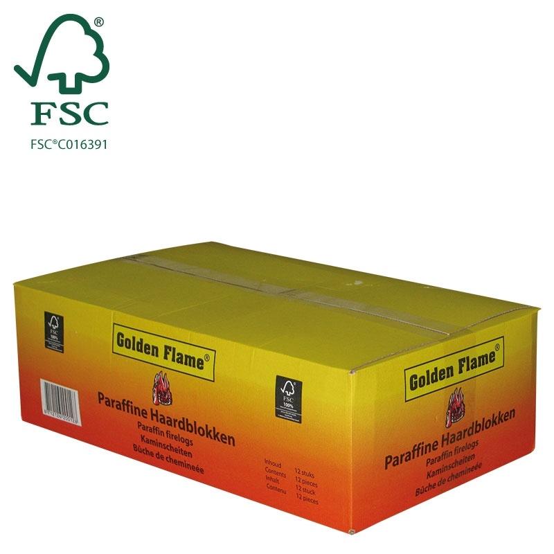 paraffine haardblok doos fsc