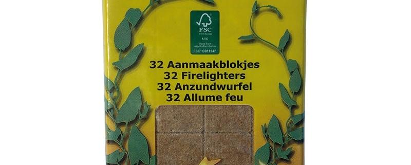 aanmaakblokjes bruin 32 blokjes fsc