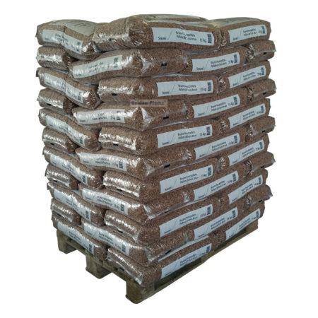 houtpellets bruin 15kg 66 zakken