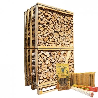 hele kist ovengedroogd berkenhout actie