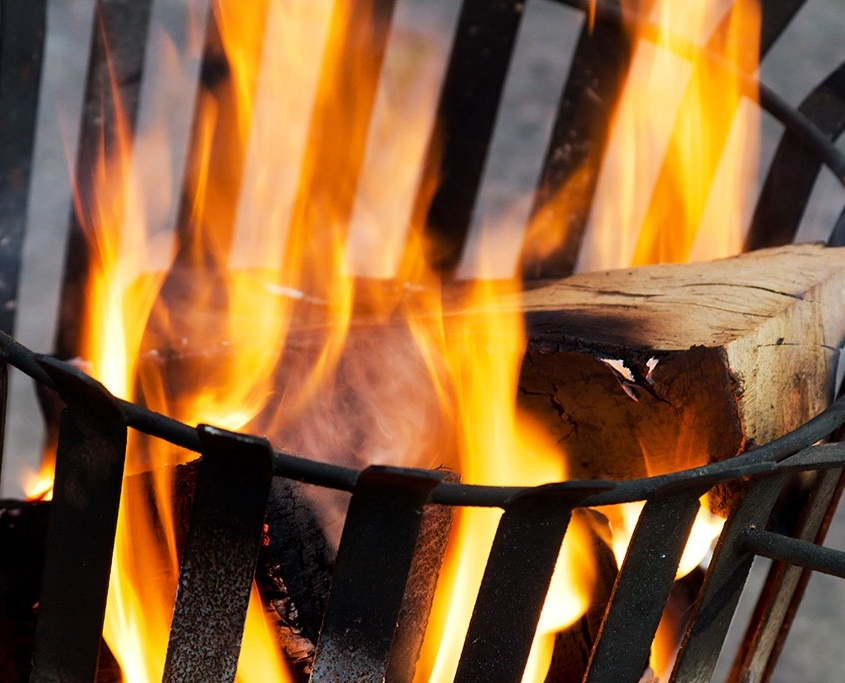 Vuurkorf met haardvuur