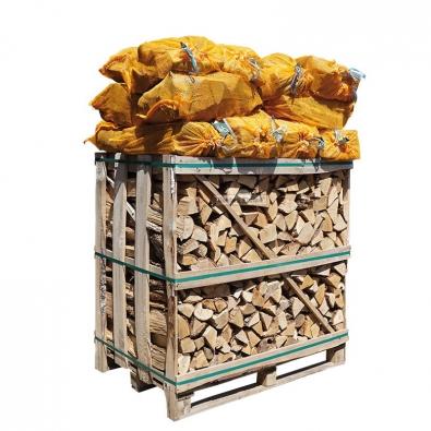 Gemengd ovengedroogd haardhout kist en netzakken 2m3 zelf samenstellen