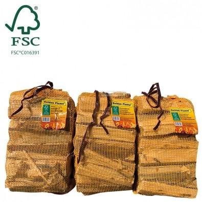 Aanmaakhout latjes 3 netzakjes FSC