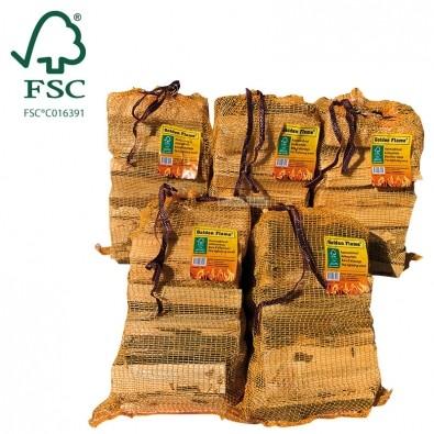 Aanmaakhout latjes 5 netzakjes FSC